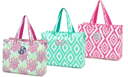 One or Two Monogrammed Beach Totes from Embellish Accessories and Gifts (Up to 52% Off)