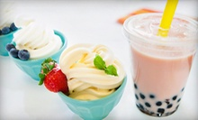 Five Medium Frozen Yogurts with Three Toppings, Five Bubble Teas, or $8 for $16 Worth of Frozen Treats at Euro Yogurt