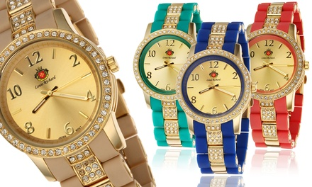 Louis Richard Women's Watches with Swarovski Crystals