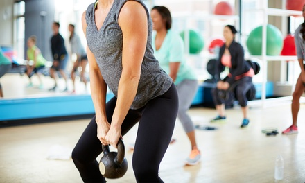 One Month of Unlimited Classes and Gym Access or 10 Group Fitness Classes at Amped Fitness (Up to 75% Off)
