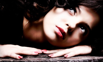 One or Three Shellac Manicures, or a Full Set of Glitter Acrylics from Traci at Versailles Salon & Spa (Up to 57% Off)