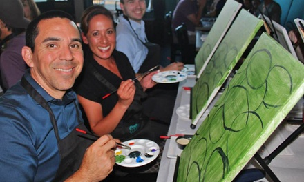 Three-Hour Painting Class for One, Two, or Four from Crafts & Cocktails (Up to 41% Off)