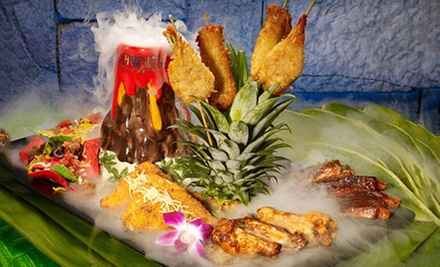 $26 for an Island-Themed Dinner for Two at Kahunaville Island Restaurant & Party Bar (Up to $54.96 Value)