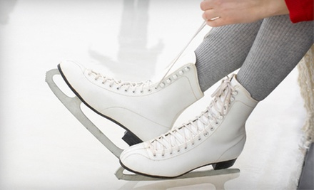 Open Skate with Skate Rental for Two or Four or Ice-Skating Lessons at Midwest Training and Ice Center (Half Off)