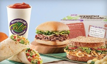 Five Regular-Size Smoothies or $6 for $12 Worth of American Food at Tropical Smoothie Cafe