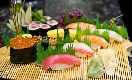Sushi and Hibachi at Aji Japanese Restaurant (Half Off). Three Options Available.