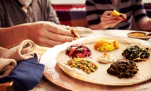 Vegetarian or Messob Platter for Two at Abyssinia Ethiopian Restaurant (Half Off)