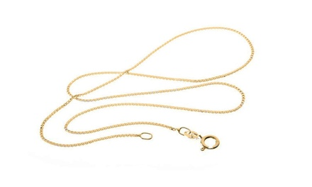 Solid 14K Gold Box Chain Necklaces from $94.99 to $149.99