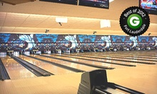 $30 for a Bowling Package for Up to Six with Large Pizza at Strikers Family Sportscenter (Up to $66.45 Value)