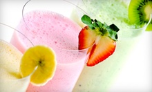 Three Vouchers for One or Two Organic Smoothies and Raw Juice Drinks at Lifestyle Cafe Juice Bar (53% Off)