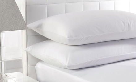One or Two Pairs of White Duck Feather Pillows