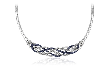 1/4 CTTW Diamond Weave Frontal Necklace