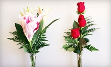 Three Red Roses or Two Stems of Lilies from America's Beautiful Florist (Up to 52% Off)