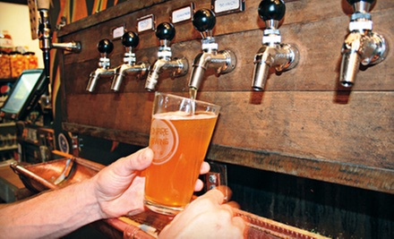 Beer for Two or Four or Growler and Apparel Package for Two at Bonfire Brewing (Up to 55% Off)