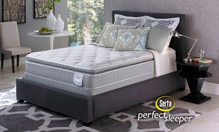 serta perfect sleeper super pillow top mattress sets deal of the day groupon. Black Bedroom Furniture Sets. Home Design Ideas