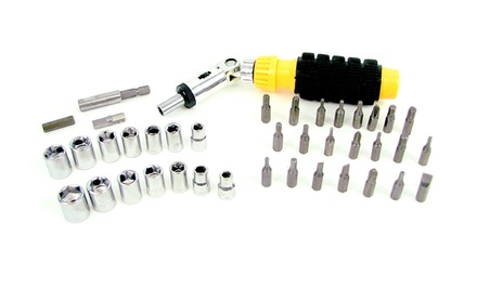 41-Piece Professional Screwdriver Bit and Socket Set