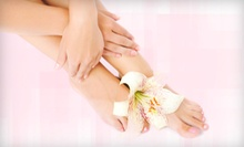 One or Two Mani-Pedis at Lush Beauty and Brow Bar (73% Off)
