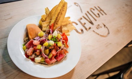 Fresh, Healthy Latin Cuisine at Cevich (50% Off). Two Options Available.