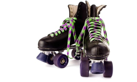 Roller-Skating with Skate Rental, Pizza, and Drinks for Two or Four at Roller Kingdom (Up to 52% Off)