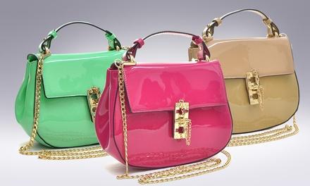 Luca Patent Leather Crossbody Bag