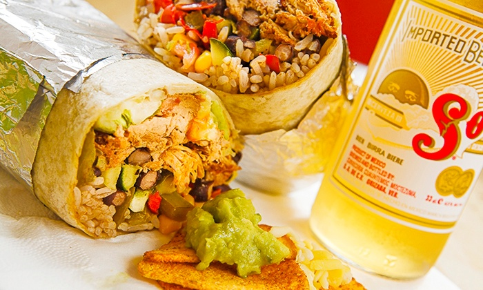 Burrito Cafe - Burrito Cafe: Burrito and Beer For Two £9 at Burrito Cafe, Covent Garden (50% Off)