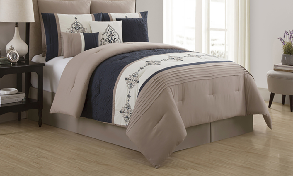 Mansfield Embroidered Comforter Set 9 Piece On Sale At Groupon