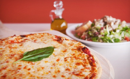 $25 for Five Groupons, Each Good for One Large Cheese Pizza for Carry-Out at La Famiglia Pizzeria ($57.50 Value)
