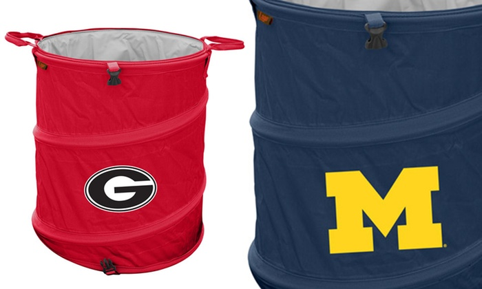 Ncaa Collapsible 3 In 1 Trash Can Hamper And Cooler