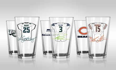 NFL Player Pint Glasses (2-Pack)