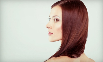 Haircut and Style with Single-Process Color, or Partial or Full Highlights at JAG Colour Studio (Up to 77% Off)
