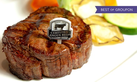 $75 for a Six-Course Steak or Seafood Dinner for Two at Day & Night Angus Steak and Raw Bar ($150 Value)