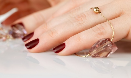 Shellac Mani with Optional Classic Pedi or Classic Mani-Pedi at Salon Maria (Up to 45% Off)