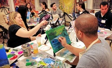 One or Three Art Classes with Complimentary Wine and Supplies Included at The Art Studio NY (Up to 57% Off)