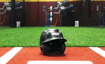 20 Batting Cage Credits with Option for Half-Hour Lesson at D-BAT Little Rock (Up to 57% Off)