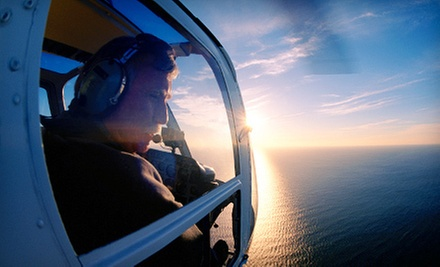 $129 for a 50-Minute Introductory Helicopter Flight Lesson with Video at North Andover Flight Academy ($215 Value)