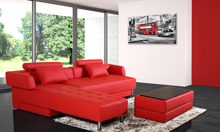 canap d 39 angle r versible et convertible groupon shopping. Black Bedroom Furniture Sets. Home Design Ideas