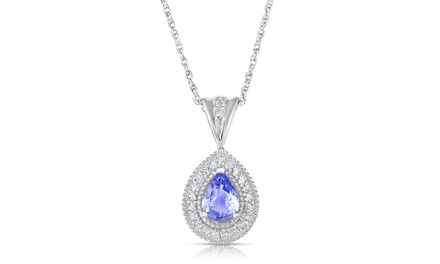1/7 CTTW or 1/4 CTTW Tanzanite & White Topaz Jewelry in Sterling Silver from $54.99 to $74.99