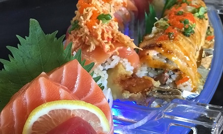 $27 for a Prix-Fixe Japanese DInner for Two or More at Angry Fish Sushi ($44.35 Value)