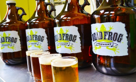 Brewery Tour and Tasting for Two or Four with Take-Home Coasters at Dead Frog Brewery (46% Off)