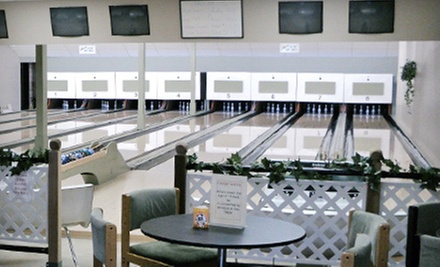 Three Games of Five-Pin Bowling with Food for Two, Four, or Six at Vineyard Lanes in Summerland (Up to 69% Off)