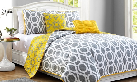 East Side 5-Piece Reversible Quilt Set