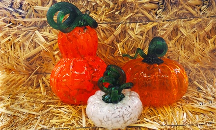 Create your own Blown Glass Pumpkin, Gourd or Solid Mini Pumpkin at Live Laugh Love Glass (51% Off)