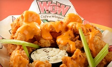 $15 for $30 Worth of Wings, Pub Grub, and Drinks at Wow Cafe &amp; Wingery