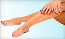 One or Two Shellac Mani-Pedis at Charleston Nails & Spray Tan (Up to 58% Off)