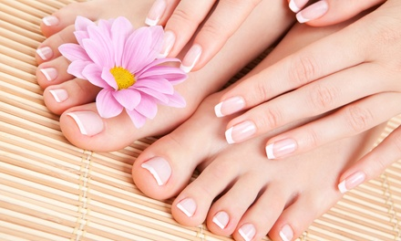 One or Three Classic Mani-Pedis at Huron Nails (Up to 51% Off)