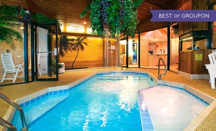 groupon daily deal - 1-Night Stay for Two with a Romance Package at Sybaris Pool Suites in Suburban Chicago. Combine Up to 5 Nights.