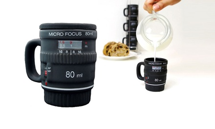 Into Focus Camera-Lens Mugs