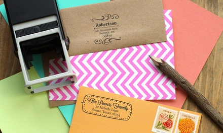Personalized Self-Inking Stamps with Shipping Included from 2712 Designs (Up to 59% Off). Four Options Available.