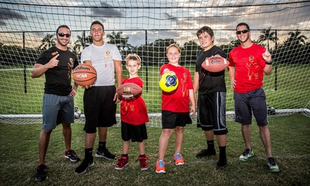 $189 for a Basketball, Soccer, Football, Running, Baseball, or Tae Kwon Do Camp at Fired Up Youth Sports ($300 Value)