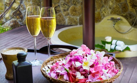 $125 for Outdoor Couples Massage with Aromatherapy, Jacuzzi Soak, Wine, and Cheese at La Dolce Vita Spa ($277 Value)
